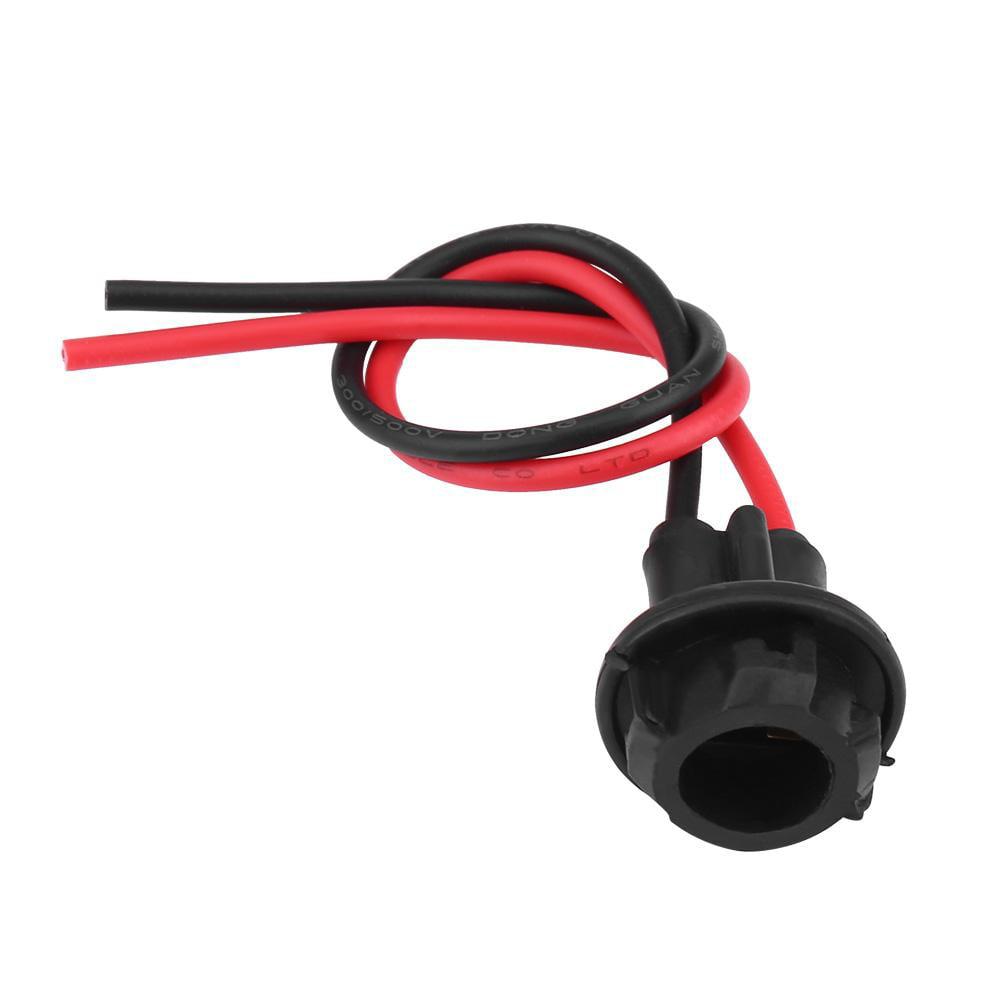 2pcs Car Light Bulb Socket T10 Car Plug-in Light Bulb Extension Socket Holder for Parking Lights Side Lights License Plate Lights
