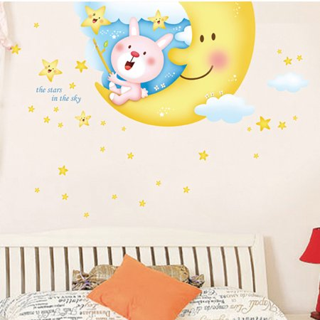Bear Balloon Number Pattern Room Nursery Decal Wall Decor Sticker