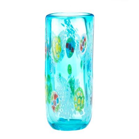 Colorful Glass Vase Cylinder Tall Vases Home Decor Blue Walmart