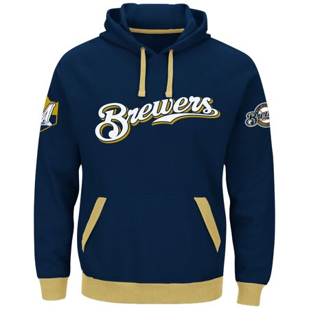 "Milwaukee Brewers Majestic MLB ""Third Wind"" Mens Hooded Sweatshirt by"