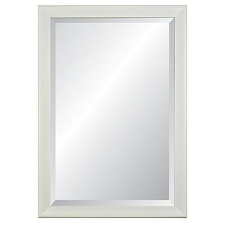 Alpine Fine Furniture Lakeside White Beveled Glass Wall Mirror 28
