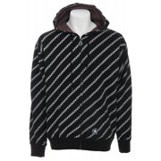 Sessions Diagonal Pin Zip Hoodie Black Magic Men's Sz L