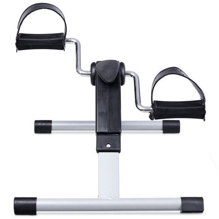 Costway Folding Fitness Pedal Stationary Under Desk Indoor Exercise Bike for Arms