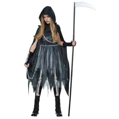 Child Reaper Girl Costume - Kids Grim Reaper Costume