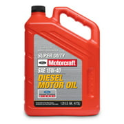 Motorcraft Super Duty 15W-40 Conventional Heavy Duty Diesel Engine Oil, 5 Quart