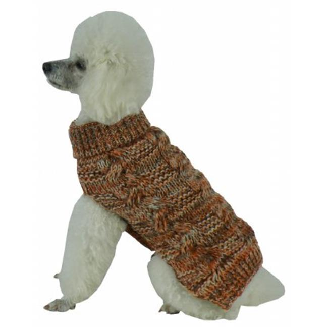 Pet Life SW16TNOLG Royal Bark Heavy Cable Knitted Designer Fashion Dog Sweater, Large - image 1 of 1