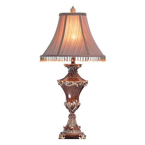RESEMBLE WOOD TABLE LAMP