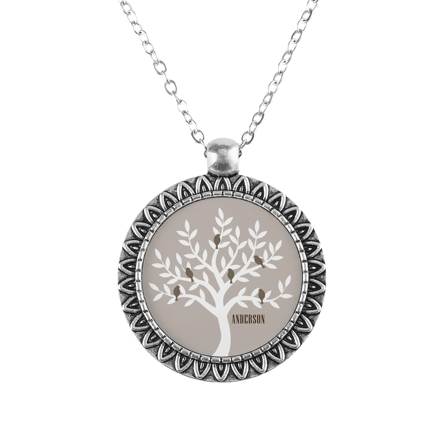 Personalized Family Tree Pendant - Available in 2 Colors