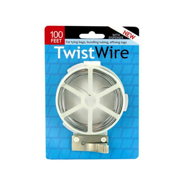 Bulk Buys MR114-72 Twist Wire With Dispenser - image 1 de 1
