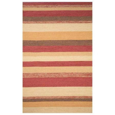 Trans-Ocean Ravella Stripe Indoor/Outdoor Area Rug - Red