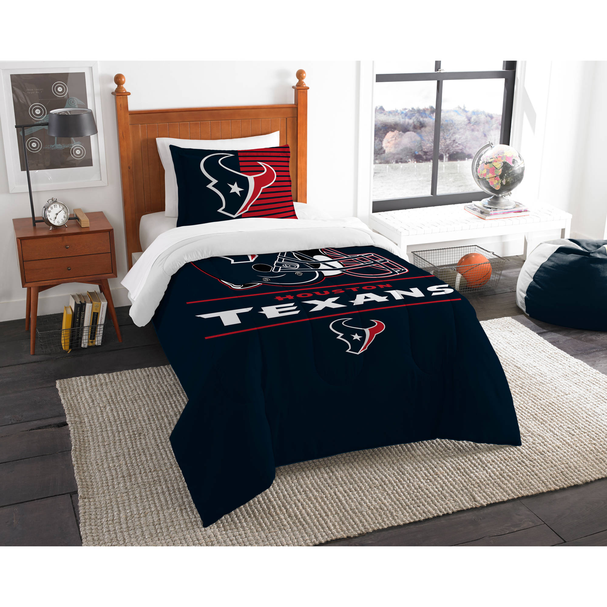 "NFL Houston Texans ""Draft"" Bedding Comforter Set"
