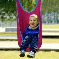 Kids Swing Pod Hanging Seat Hammock w/ Straps - Pink