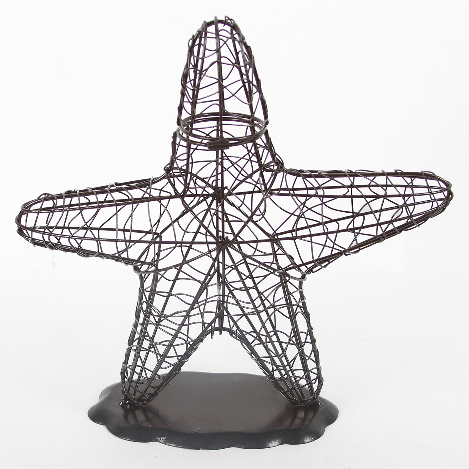 Coastal Starfish Wine Cork Holder Kitchen Countertop Wire Metal