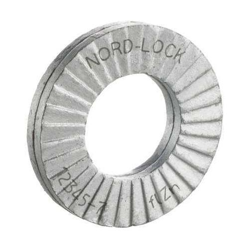 "NORD-LOCK M6 x 0.430"" OD EN 1.7182 Carbon Steel Finish Lock Washers, 20 pk., 1519"