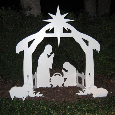 Teak Isle Outdoor Nativity Set | Weatherproof Outdoor Nativity Scene for Yards and Lawns for $<!---->