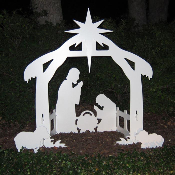 Teak Isle Outdoor Nativity Set | Weatherproof Outdoor Nativity Scene for Yards and Lawns