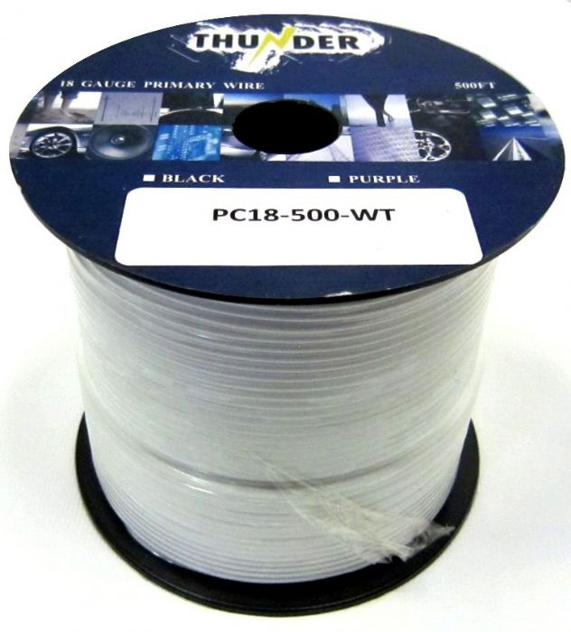 Avox PC18500WT Primary Wire 18ga 500ft White