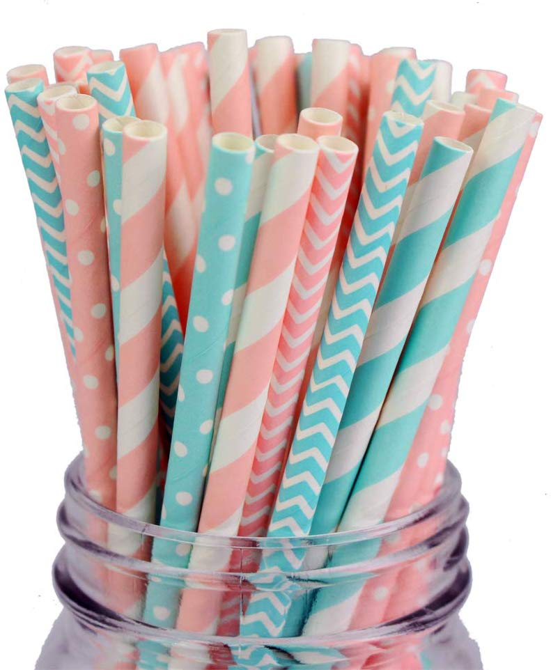 Girl Baby Shower Pink Baby Shower Decor New Arrival Gender Reveal Decor New Baby Pink Straw Baby Shower Straws Personalised Straws