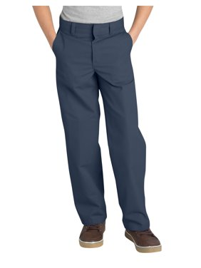 Genuine Dickies Husky Boys School Uniform Classic Fit Straight Leg Flat Front Pants (Husky)