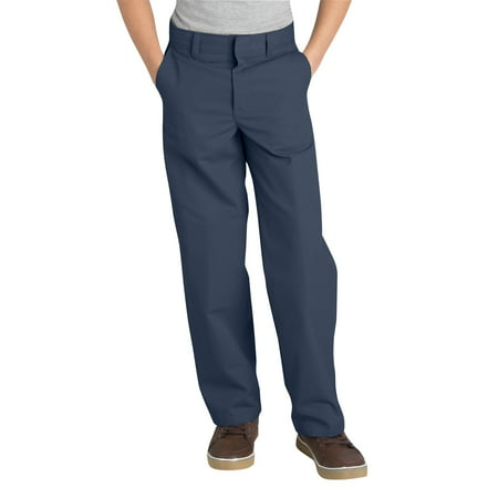 Genuine Dickies Husky Boys School Uniform Classic Fit Straight Leg Flat Front Pants