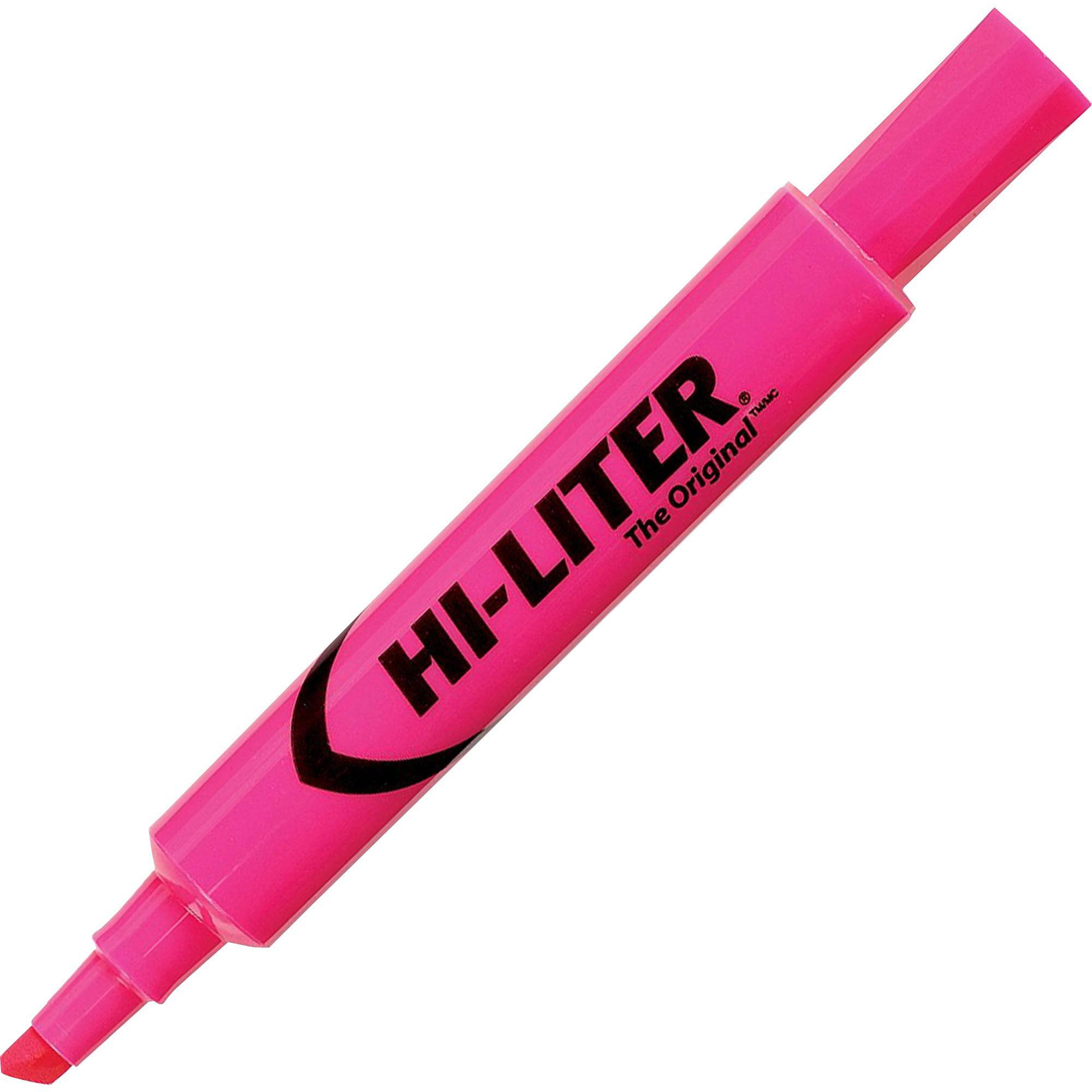 Avery HI-LITER Desk-Style Highlighter, Chisel Tip, Fluorescent Pink Ink, Dozen