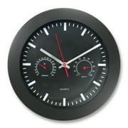 """Artistic 12"""" Rnd Wall Clock w Temp/Humidity Gauge - Quartz"""