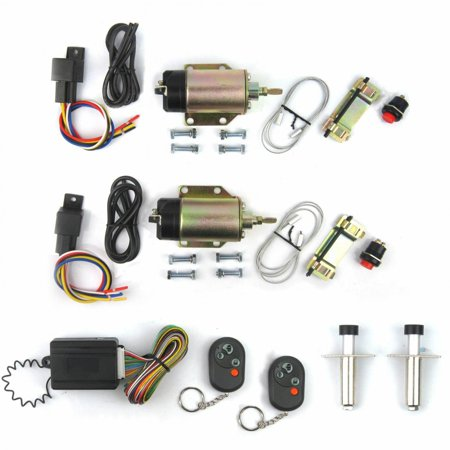 105 LB Shaved Handle Door Popper Kit  w 8 Function Remote Control