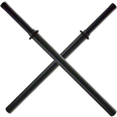 Set of 2 Black Padded Sparring Bokken Foam Sword Practice - Practice Sword Set