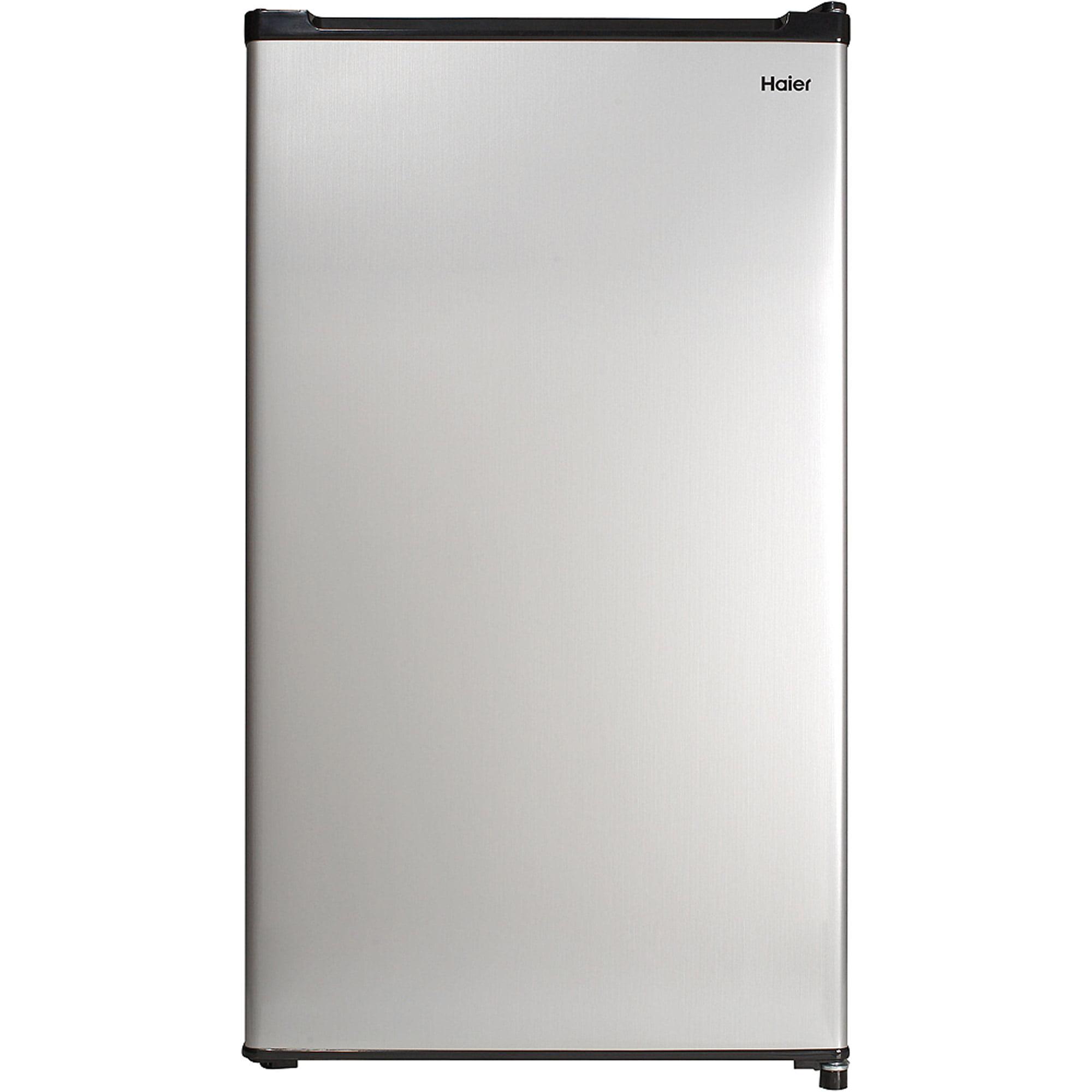 Haier 2.7 Cu Ft Single Door Compact Refrigerator HC27SW20RV, Virtual Steel
