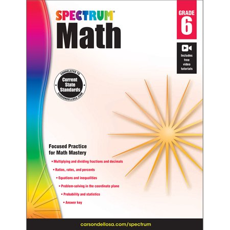 Riverdeep Math (Spectrum Spectrum Math Workbook, Grade 6 160 pages )