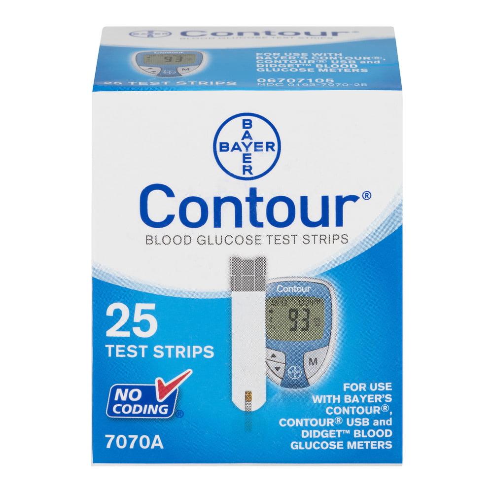 Bayer Contour Blood Glucose Test Strips - 25 CT