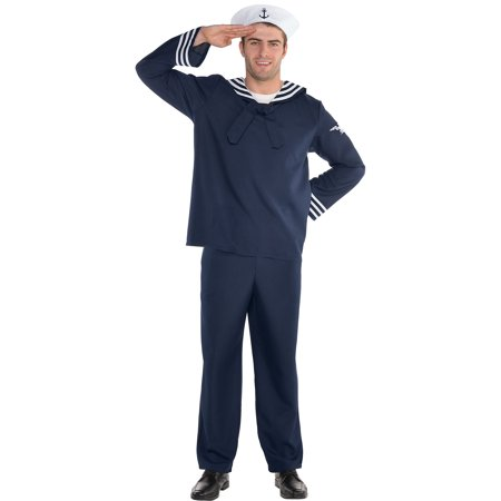 Sailor Halloween Costumes Men (Out to Sea Sailor Halloween Costume for Men, Standard)