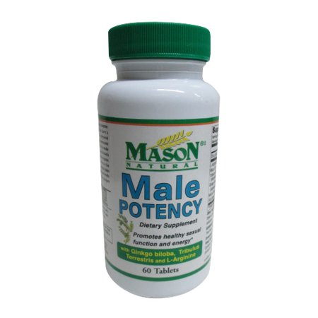 Mason Natural Male Potency Dietary Supplement Tablets For Sexual Health - 60