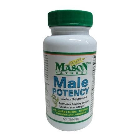 Mason Natural Male Potency Compléments alimentaires Comprimés pour la santé sexuelle - 60 Ea