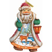 G.Debrekht 661411 General Holiday Santa Quiet Day Ornament 5 in.