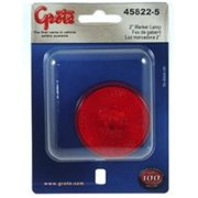 GROTE PERLUX 458225 Side Marker Light Universal Surface Mount 2 inch Round Red Lens
