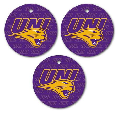 University of Northern Iowa Ornament - Set of 3 Circle Shapes Northern Iowa Set