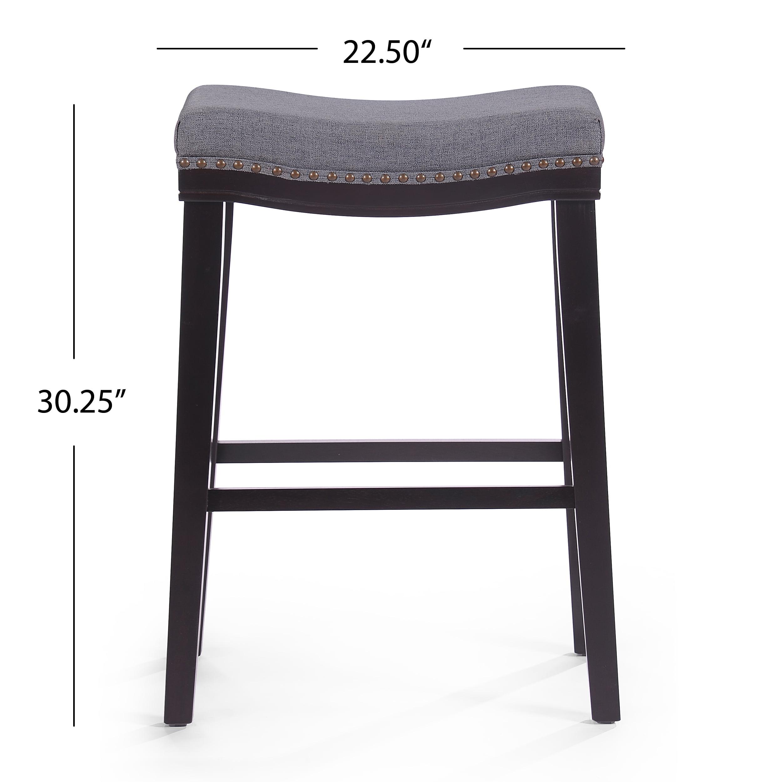 Peachy Rosalie Fabric Saddle Stool Set Of 2 Charcoal Dark Brown Ibusinesslaw Wood Chair Design Ideas Ibusinesslaworg