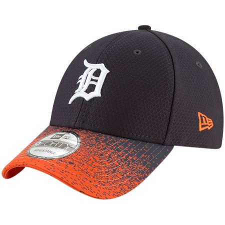 Detroit Tigers New Era Visor Blur 9FORTY Adjustable Hat - Navy -