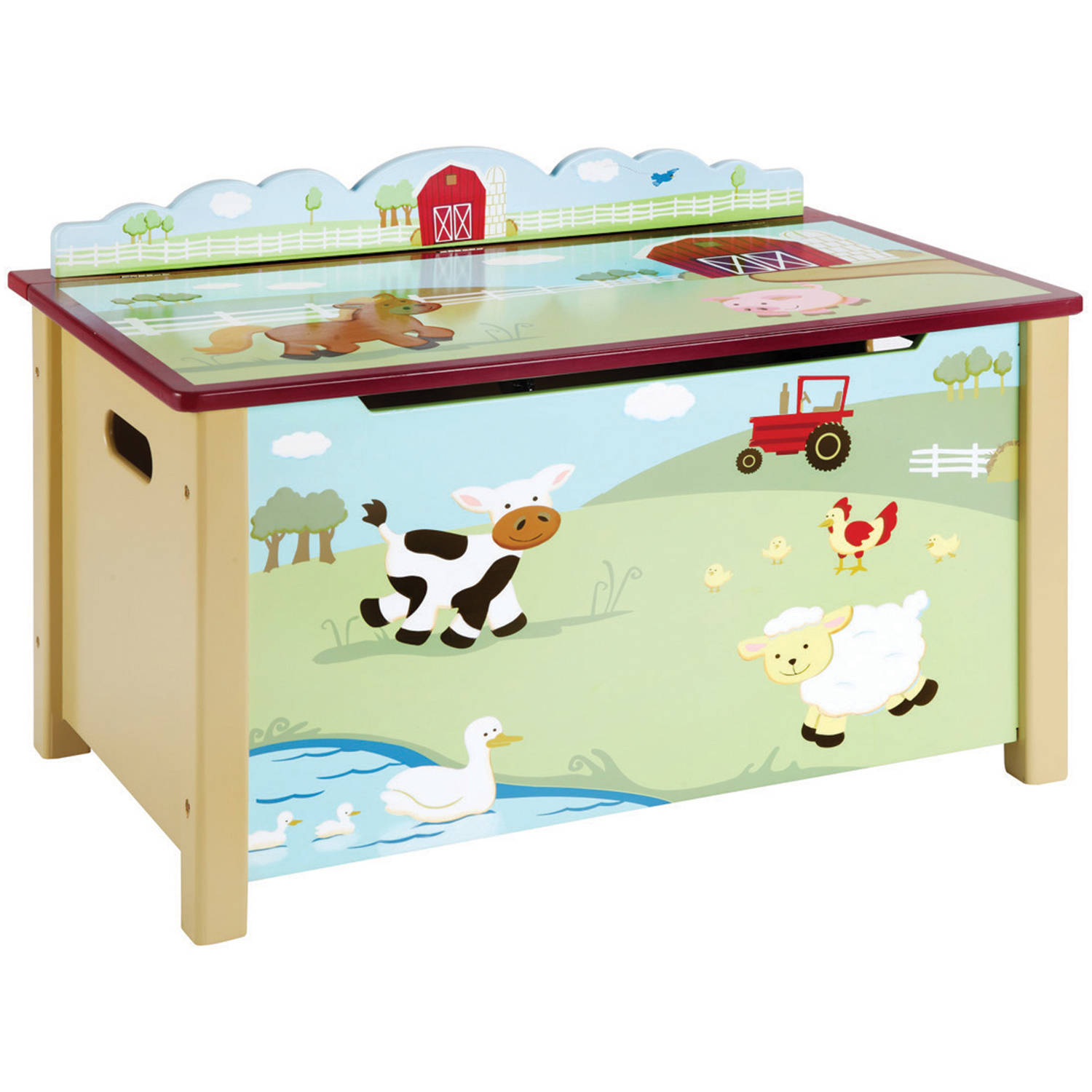 Guidecraft Farm Friends Toy Box, Green