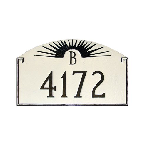 Montague Metal Products Inc. Sunfire Monogram Address Plaque
