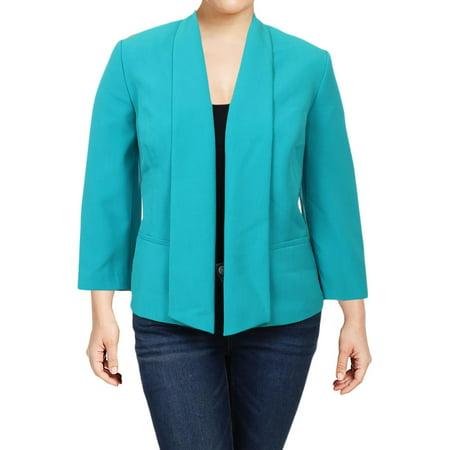 Kasper Womens Plus Office Attire Business Casual Open-Front Blazer