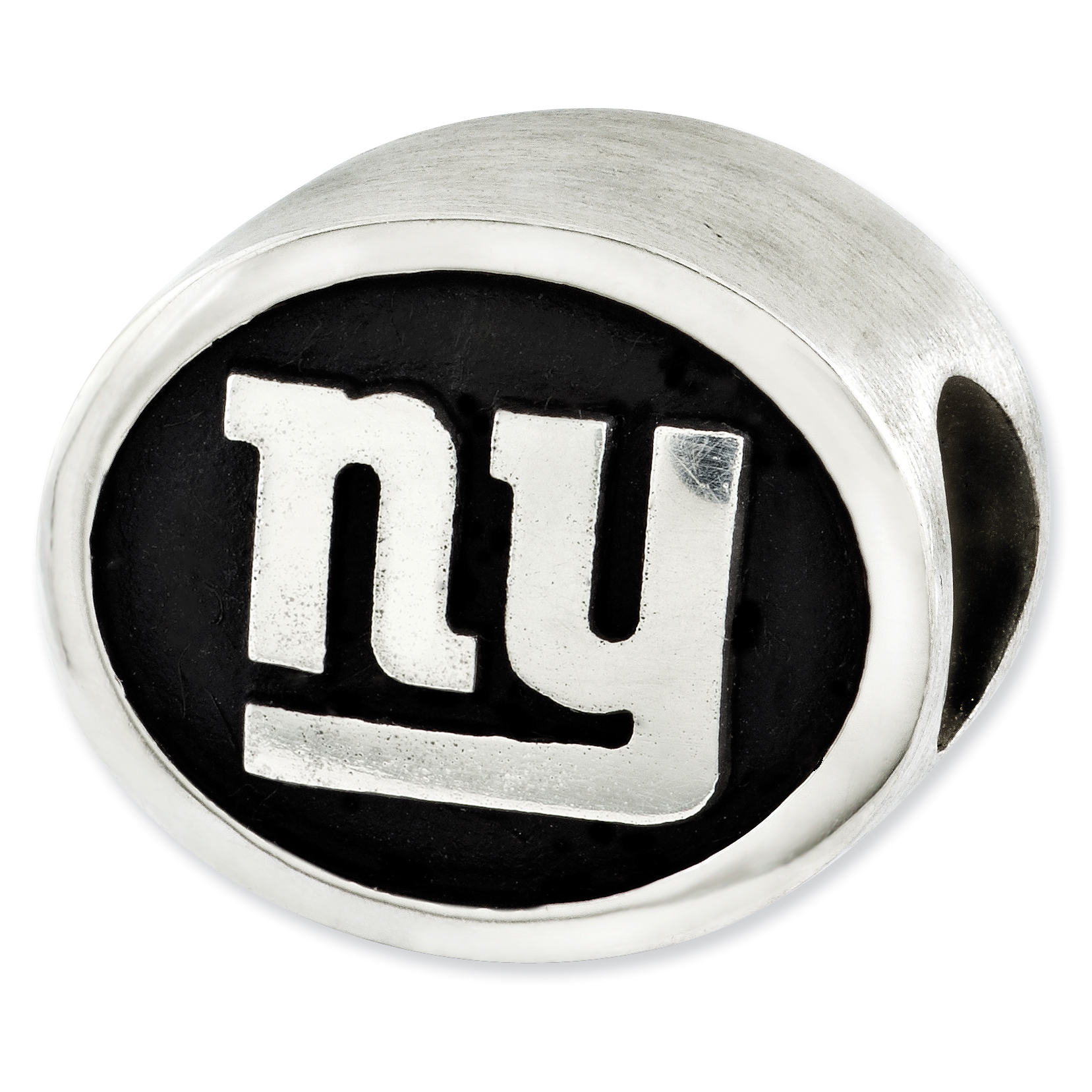 Sterling Silver Enameled New York Giants NFL Bead