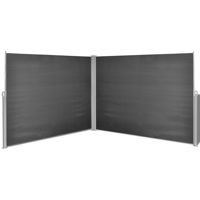 """Retractable Side Awning 71""""x236"""" Black"""