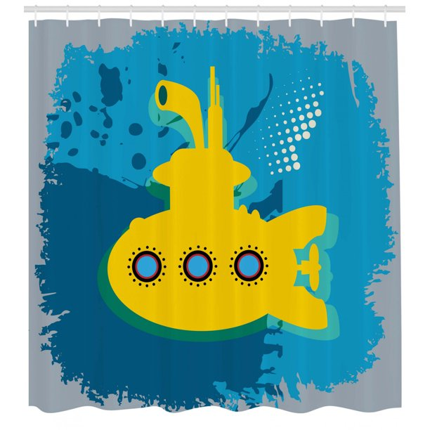 Yellow Submarine Decor Shower Curtain