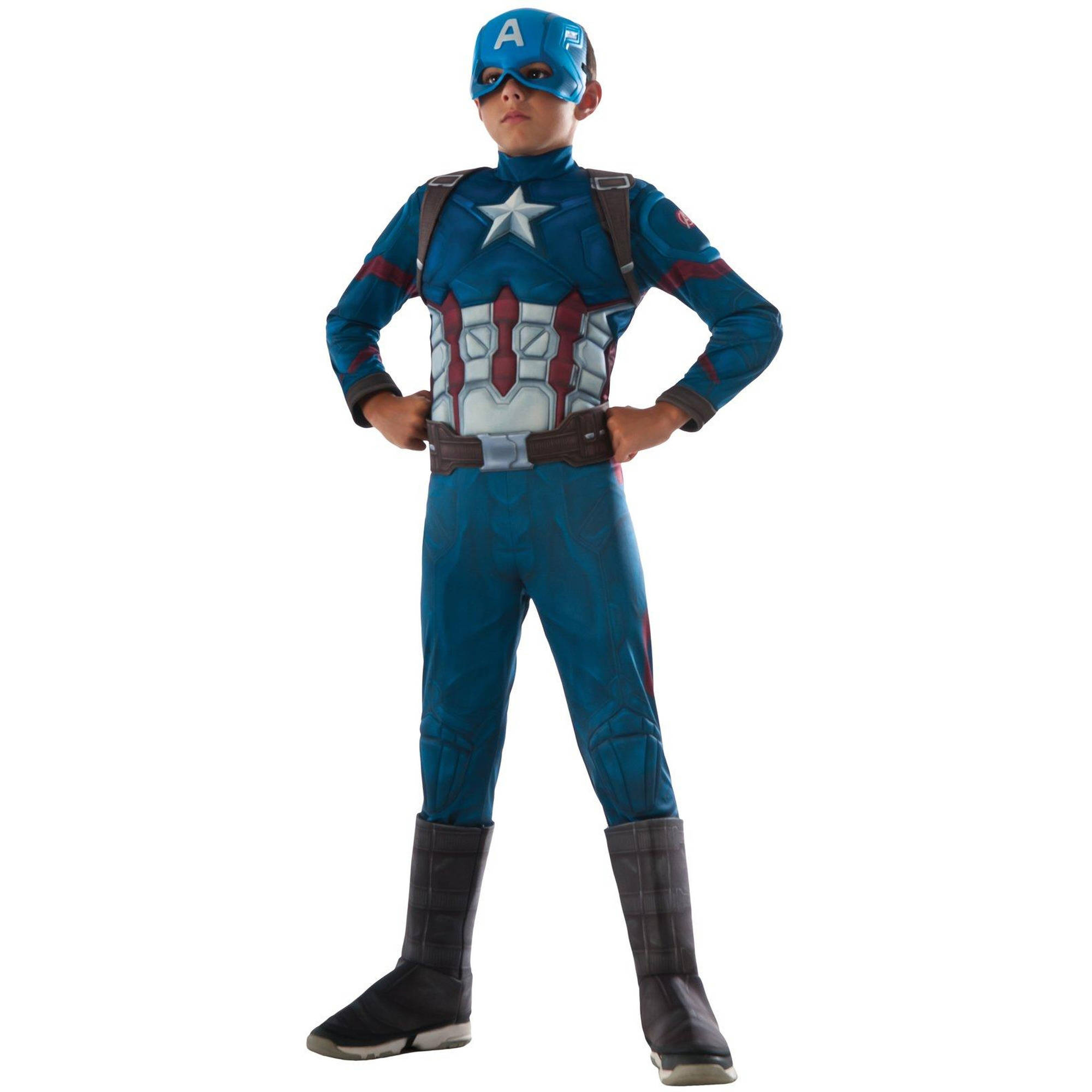 Marvel's Captain America Civil War Muscle Chest Deluxe Captain America Child Halloween Costume