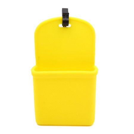 Silicone Auto Car Air Vent Phone Coin Holder Storage Bag Case Pocket -