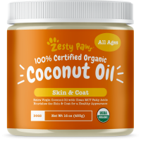 Zesty Paws Certified Organic Coconut Oil for Dogs for Anti Itch & Skin Hot Spots, 16 oz.