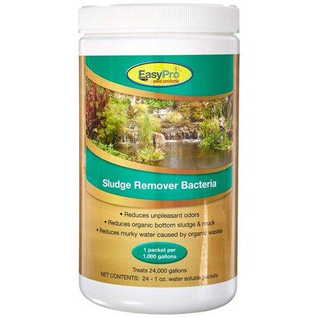 EasyPro SRB24 Pond Sludge Remover Bacteria, Dry, 24 Packets, Recommended for ponds with gravel covered bottom where sludge can build up By EasyPro Pond - Big Top Pond Cover