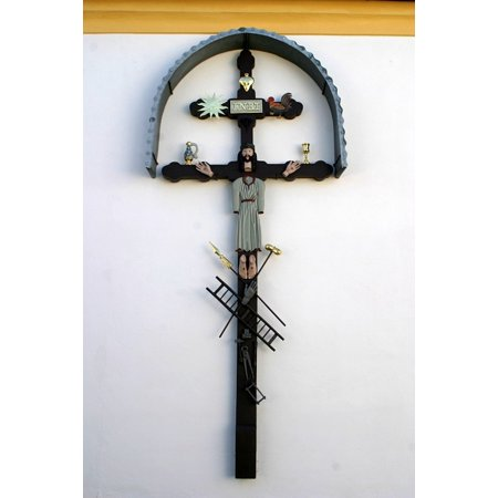 Framed Art For Your Wall Iron Cross Church Cross Jesus Crucifix Art Cross 10x13 Frame